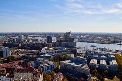 Hamburg, Duitsland - oktober 5, 2018: Stadsstraten van Duitsland pan stock fotografie