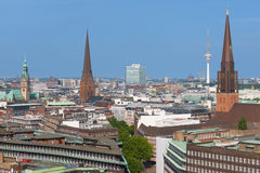 Hamburg in the early evening Stock Photos