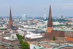Hamburg an einem Sommertag Stockfotografie