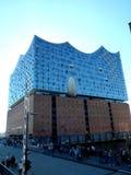 Hamburg, elbphilharmonie and modern buildings at harbor royalty free stock photo