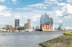 Hamburg, Elbphilharmonie, Speicherstadt Stockbild
