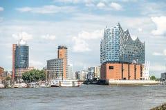 Hamburg, Elbphilharmonie, Speicherstadt Lizenzfreie Stockbilder