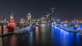 Hamburg Elbphilharmonie Time Lapse stock video footage