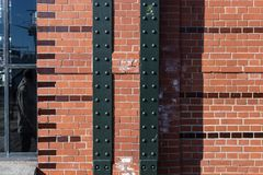 Hamburg-fishmarket Architektur-Fassadendetails und blauer Himmel Stockbilder