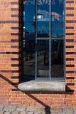Hamburg-fishmarket Architektur-Fassadendetails und blauer Himmel Stockbild