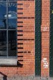 Hamburg-fishmarket Architektur-Fassadendetails und blauer Himmel Stockfoto