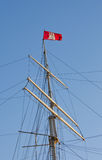 Hamburg flag on a sailship Royalty Free Stock Photo