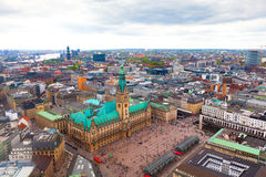 Hamburg, Germany. Panorama of downtown Hamburg (Germany Stock Images