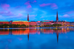 Hamburg, Germany. Alster Lake in Hamburg, Germany Royalty Free Stock Image