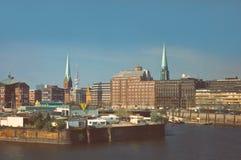 Hamburg,germany. View of hamburg,germany from the harbor Stock Photos