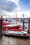 HAMBURG, GERMANY - APRIL 3 : Street view of Cruise ship in the h Royalty Free Stock Photography