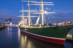 Hamburg, Germany - August 05,2017: Rickmer Rickmers in the port of Hamburg Stock Image