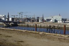 Hamburg (Germany) - Building site of the Hafencity Stock Photography