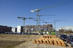 Hamburg (Germany) - Building site of the Hafencity Stock Photos