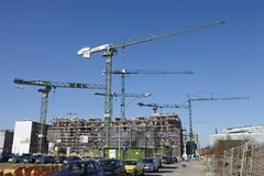 Hamburg (Germany) - Building site of the Hafencity Royalty Free Stock Images