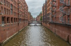 The Hamburg Speicherstadt, a Unesco World Heritage Site stock images
