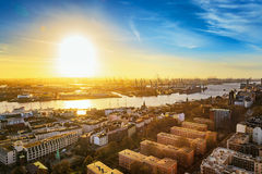 Hamburg and river Elbe, Germany royalty free stock image