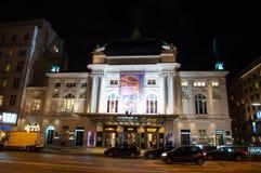 Deutsches Schauspielhaus theater at an evening. Hamburg Germany - December 16. 2017: Deutsches Schauspielhaus theater at an evening Stock Photos