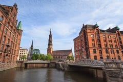 Downtown of Hamburg, Germany Royalty Free Stock Photo