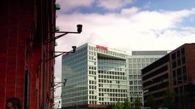 HAMBURG, GERMANY: Establishing shot of the Spiegel building. stock video