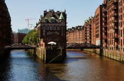 Hamburg Germany. Historic Speicherstadt in Hamburg Germany Royalty Free Stock Photography