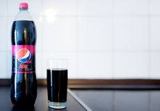 Hamburg, Germany 01.18.2018 illustrative editorial PET bottle of. Hamburg, Germany 01.18.2018 illustrative editorial of 1.5 liter PET bottle of Pepsi Max Cherry Stock Photos