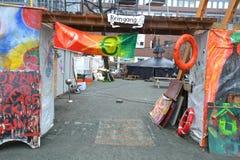 Occupy Hamburg camp Royalty Free Stock Image