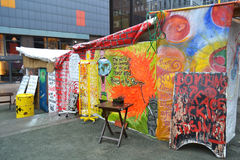 Occupy Hamburg camp Stock Photo