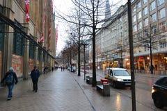 Street in center of Hamburg Stock Photos