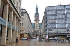 Street in center of Hamburg Royalty Free Stock Photo