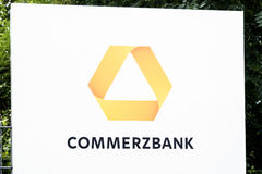 Hamburg , Germany - July 13 2017: Commerzbank AG is a global banking and financial services company founded in 1870 with stock image