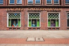Hachez Chocoversum museum in Hamburg royalty free stock photo