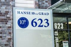Hamburg , Germany - July 15, 2017: The Hanse 10ter Grad has more than 16500 square meters to let. Hamburg , Germany - July 15, 2017: The Hanse 10ter Grad has Stock Image
