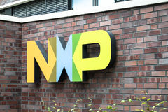 Hamburg , Germany - July 13 2017: NXP Semiconductors N.V. is a dutch global manufacturer which is employing Stock Photo