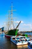 Germany, Hamburg ship on river Elbe royalty free stock image