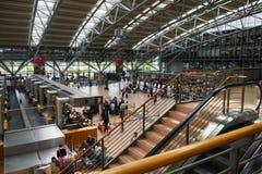 HAMBURG; GERMANY; JULY 27, 2016: passenger terminal with check-i Royalty Free Stock Photo