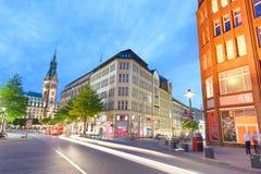 HAMBURG, GERMANY - JULY 20, 2016: Tourists along city streets at stock image