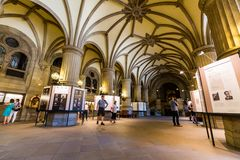 Interior view of the town hall of Hamburg Royalty Free Stock Image