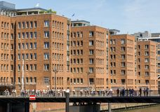 Hamburg, Germany, June 6., 2018: Office building at Sandtorkai in the Hafencity of Hamburg stock photography