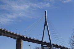 Hamburg (Germany) - Koehlbrand Bridge Stock Photography