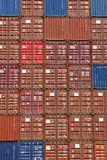 Stacked Shipping Containers Royalty Free Stock Photo