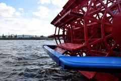 Steamer - Steam Boat, Hafengeburtstag St. Pauli-Landungsbrucken. Hamburg, Germany - May 11, 2019:  Steamer - Steam Boat, Hafengeburtstag St. Pauli stock image