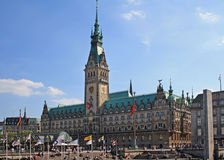 Town Hall in Hamburg Stock Photo