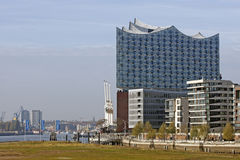 Hamburg, Germany - The new Elbphilharmonie. HAMBURG, GERMANY - NOVEMBER 14: The Elbphilharmonie is a concert hall completed in 2016. The 110-meter high building Royalty Free Stock Photos