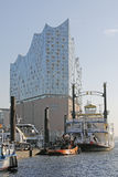Hamburg, Germany - The new Elbphilharmonie. HAMBURG, GERMANY - NOVEMBER 14: The Elbphilharmonie is a concert hall completed in 2016. The 110-meter high building Royalty Free Stock Photography