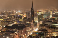 Hamburg, Germany. Night view of Hamburg, Germany stock photo