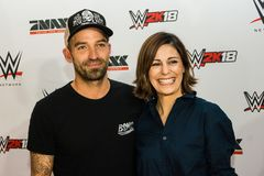 Impressions from the Red Carpet Event during the WWE Live Tour 2017, Hamburg, Germany Stock Photo