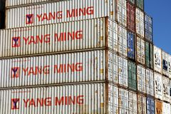 STACKED SHIPPING CONTAINERS Royalty Free Stock Image