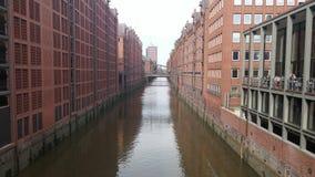 Hamburg Germany. Old Canals of Hamburg Stock Photography