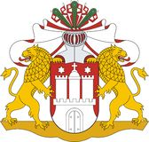 Hamburg. Wappen Stockbilder